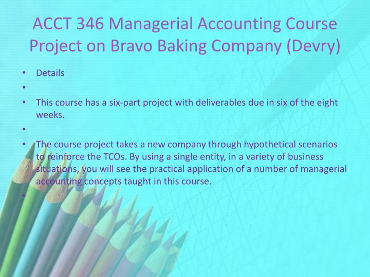 ac505 managerial accounting course project a