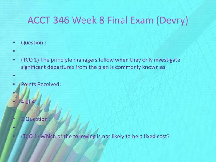 acct devry week 4