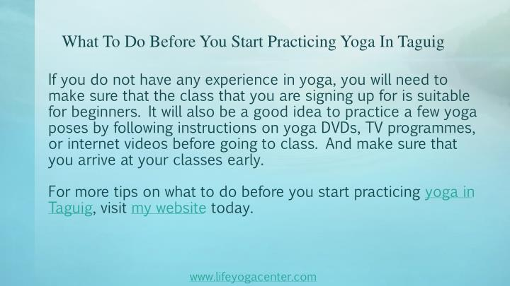 What To Do Before You Start Practicing Yoga In