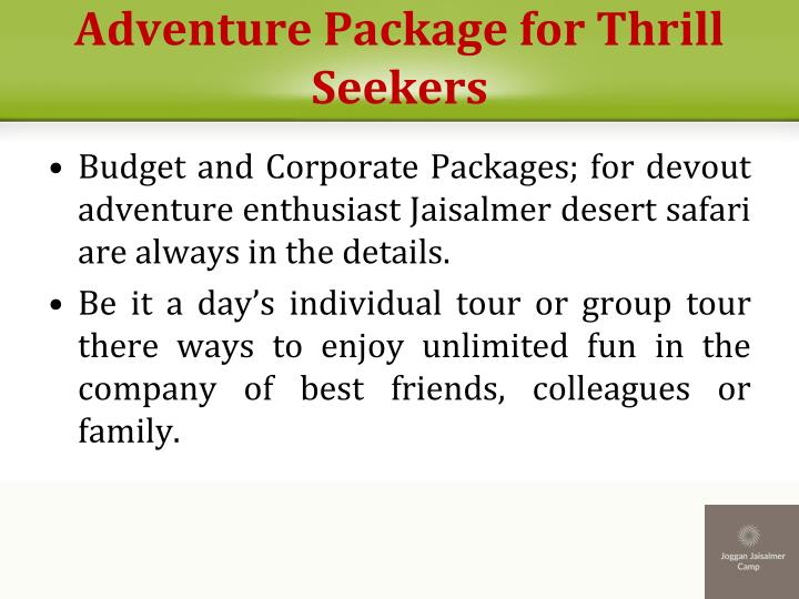 Adventure Package for Thrill Seekers