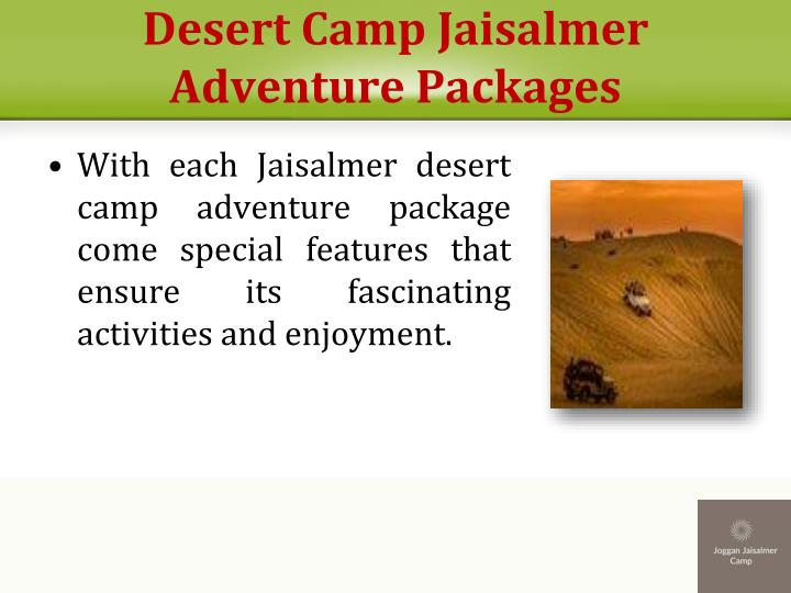 Desert Camp Jaisalmer Adventure Packages