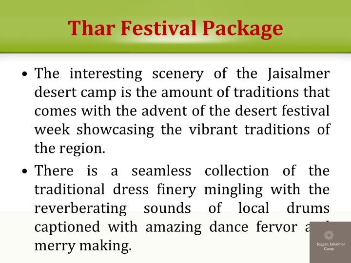 Thar Festival Package