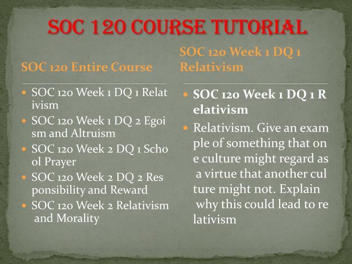 soc 120 Course