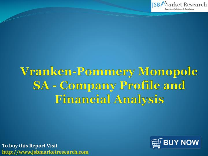 Vranken pommery monopole sa company profile and financial analysis