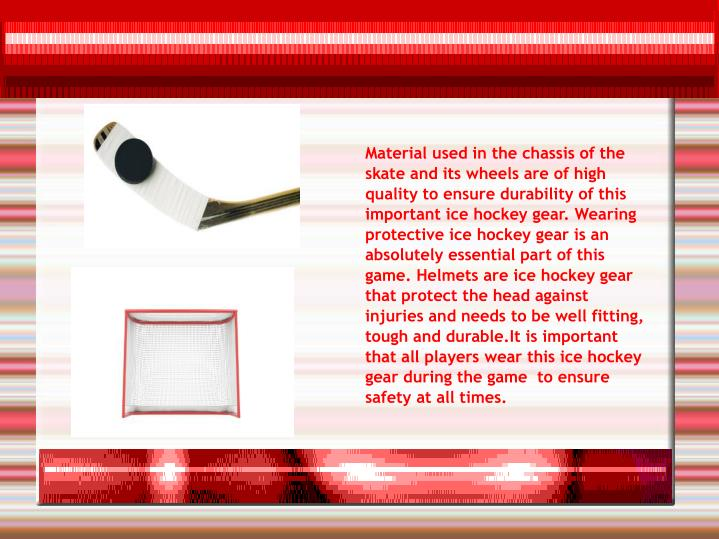 Material used in the chassis of the skate and its wheels are of high quality to ensure durability of...