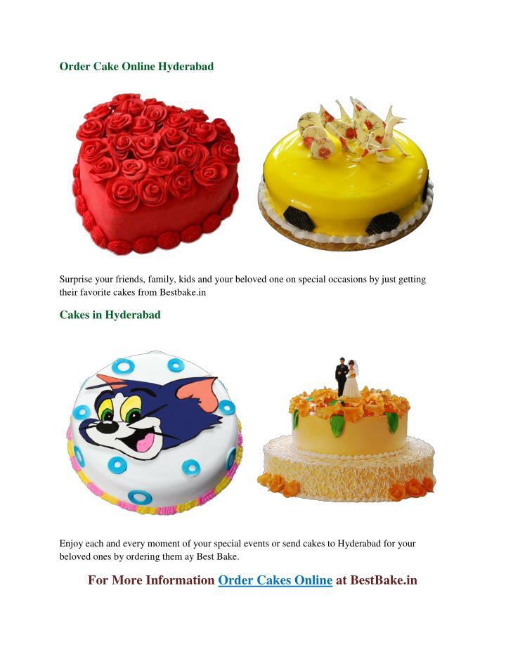 Order Cake Online Hyderabad