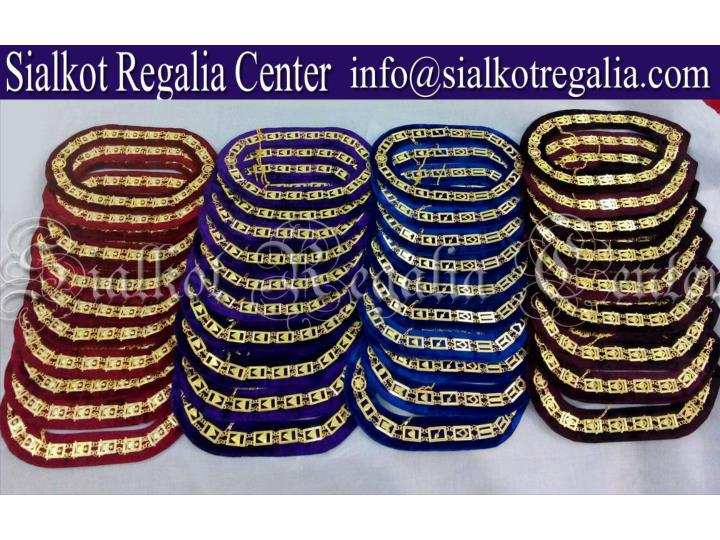 Masonic regalia blue lodge chain collars