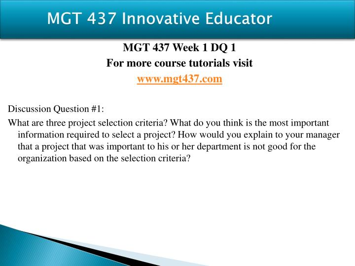 Mgt 437 innovative educator1