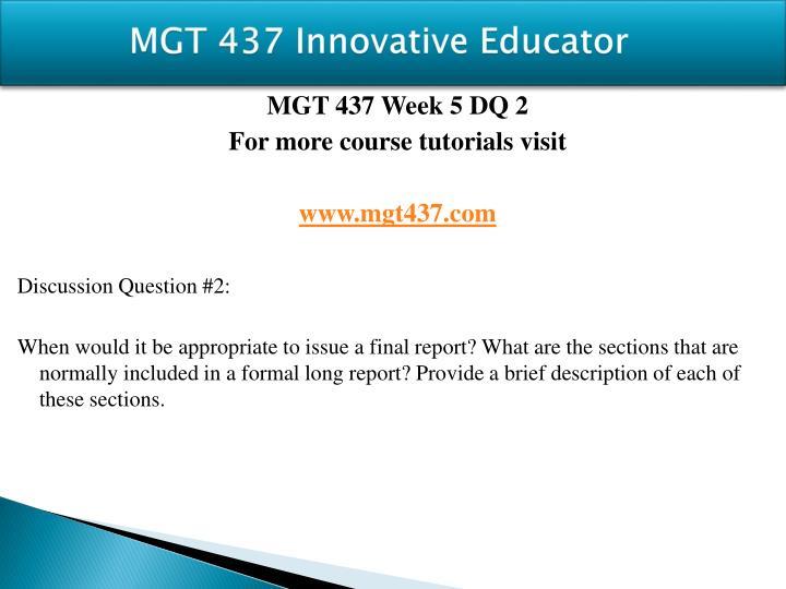 MGT 437