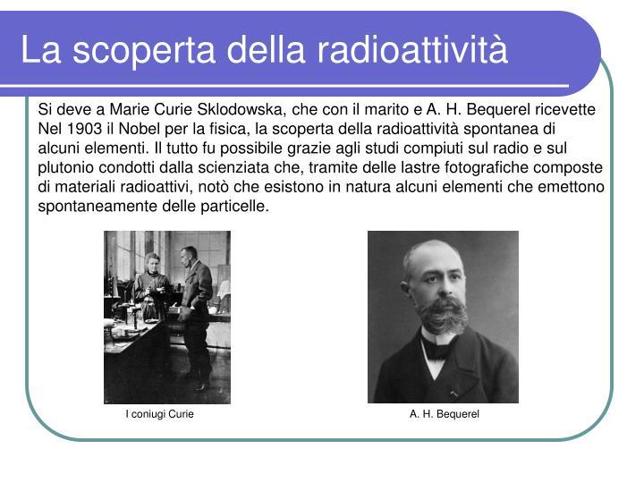 La scoperta della radioattività