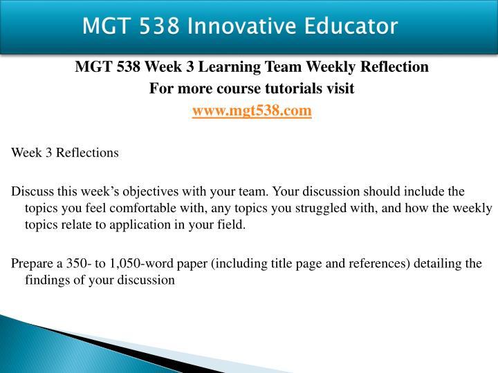 MGT 538
