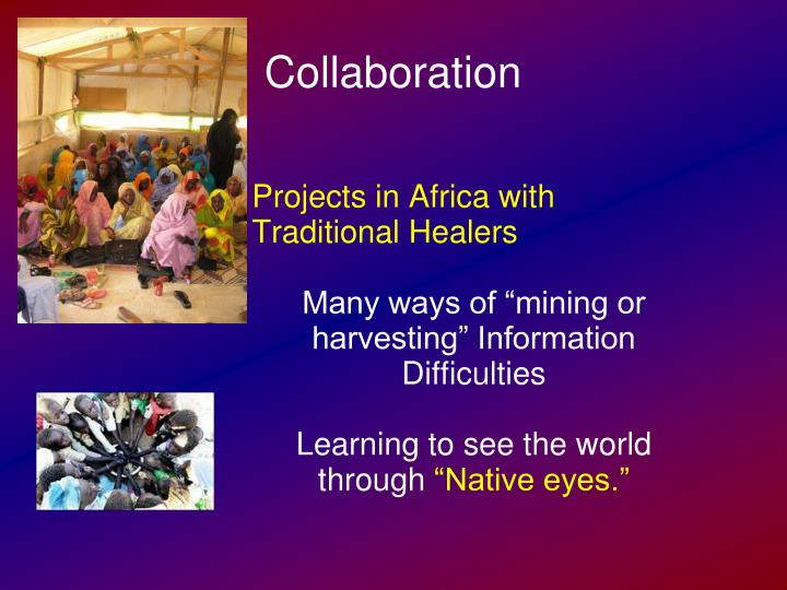 Projects in Africa with Traditional Healers