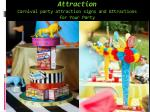 attraction carnival party attraction signs and attractions for your party