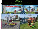rides whether full size rides or small ones for children s carnival party
