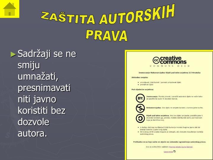 ZAŠTITA AUTORSKIH
