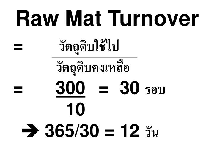 Raw Mat Turnover