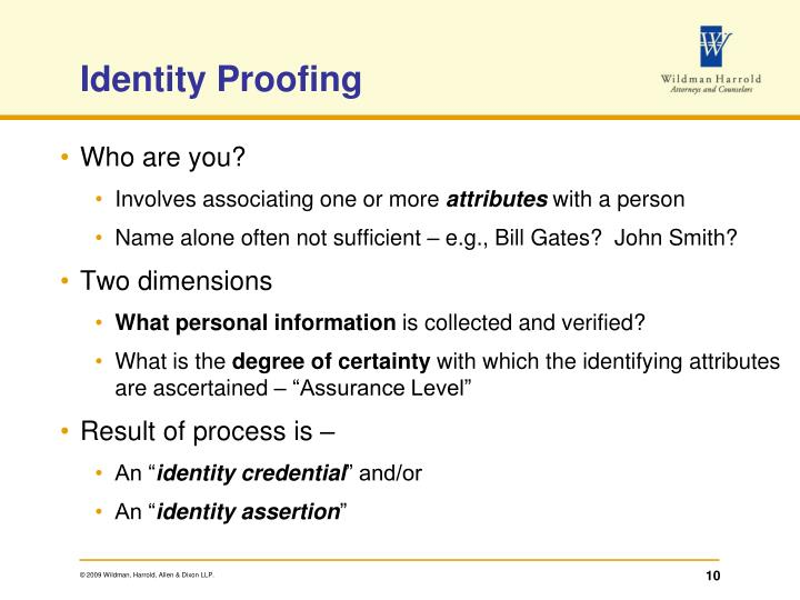 Identity Proofing