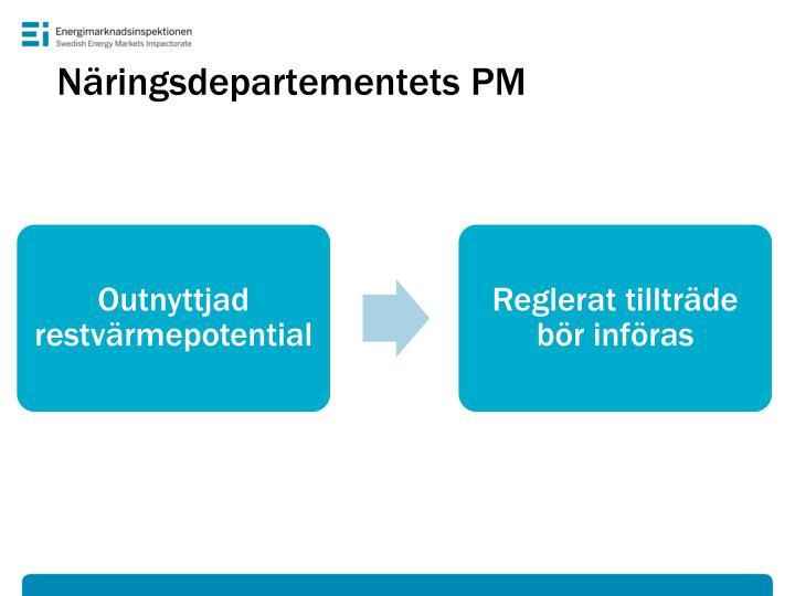 Näringsdepartementets PM