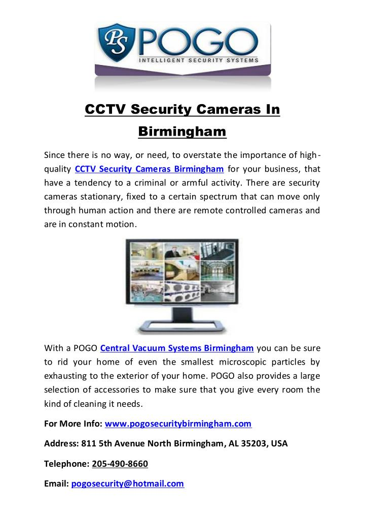 CCTV Security Cameras In