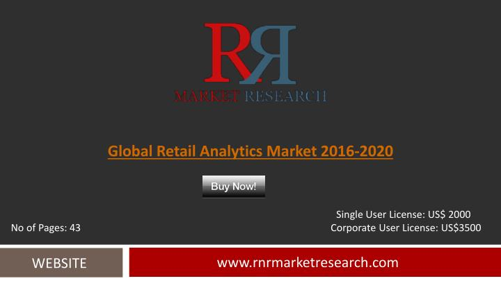 Global Retail Analytics Market 2016-2020