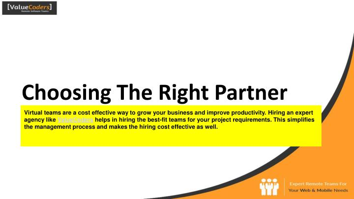 Choosing The Right Partner