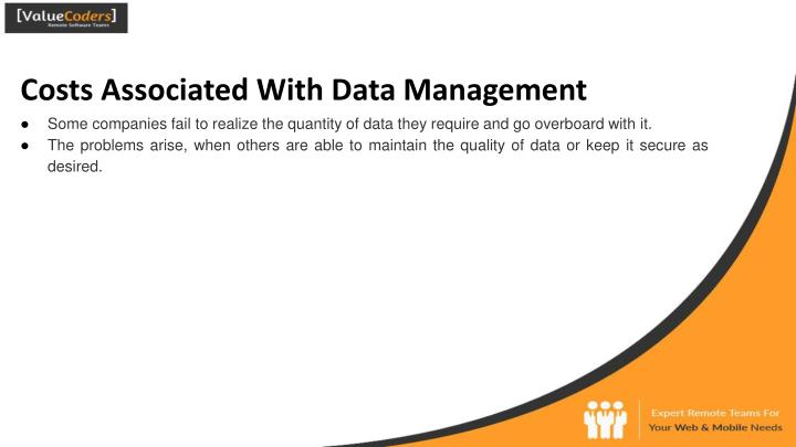 Costs Associated With Data Management