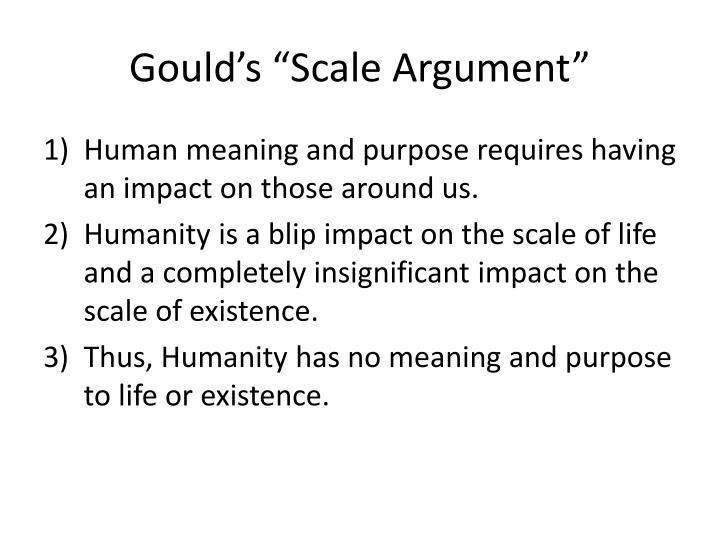 """Gould's """"Scale Argument"""""""