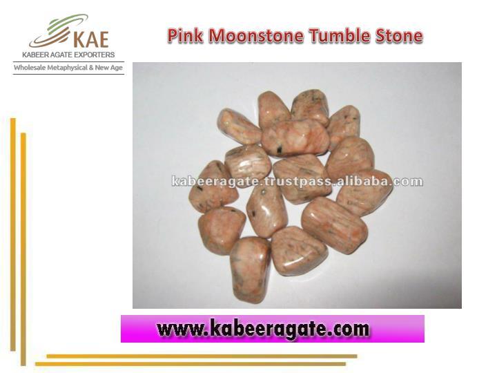 Pink Moonstone Tumble Stone