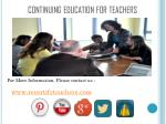 continuing education for teachers1
