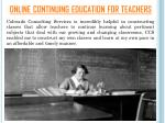 online continuing education for teachers