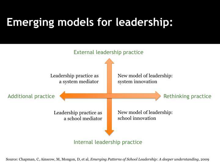 Emerging models for leadership: