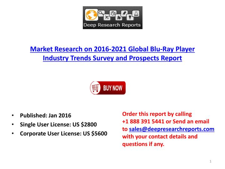 Market Research on 2016-2021 Global Blu-Ray Player