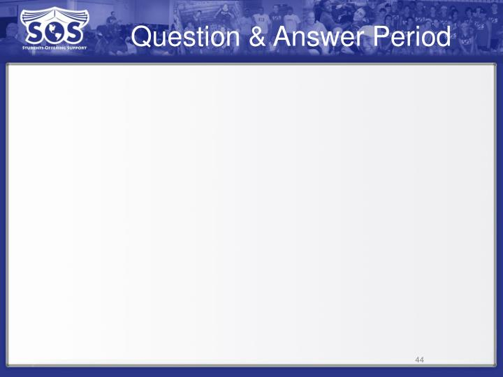 Question & Answer Period