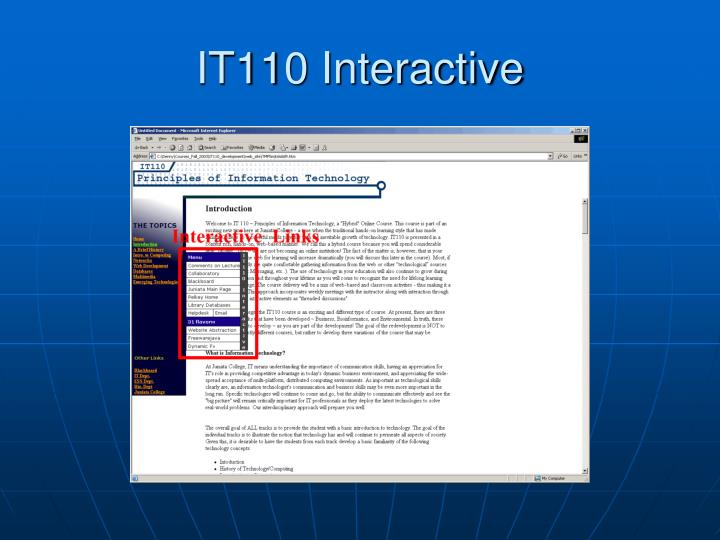 IT110 Interactive
