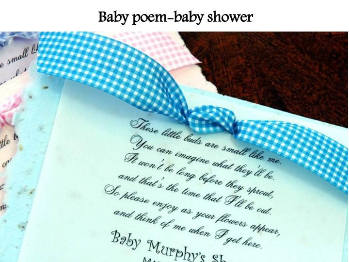 Baby poem-baby shower