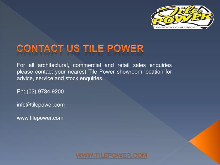 contact us tile power