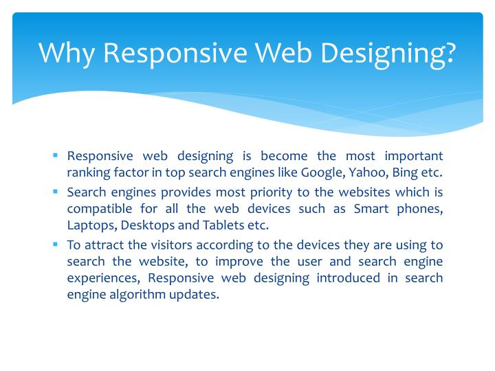 Why Responsive Web Designing?