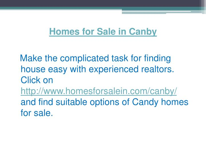 Homes for Sale in Canby