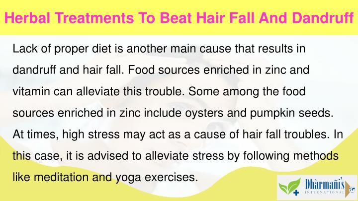 Herbal Treatments To Beat Hair Fall And Dandruff