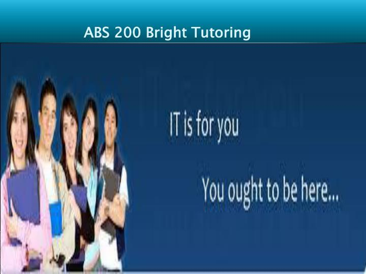 ABS 200 Bright Tutoring