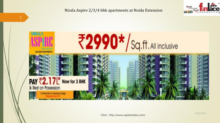 Nirala Aspire 2/3/4 bhk apartments at Noida Extension