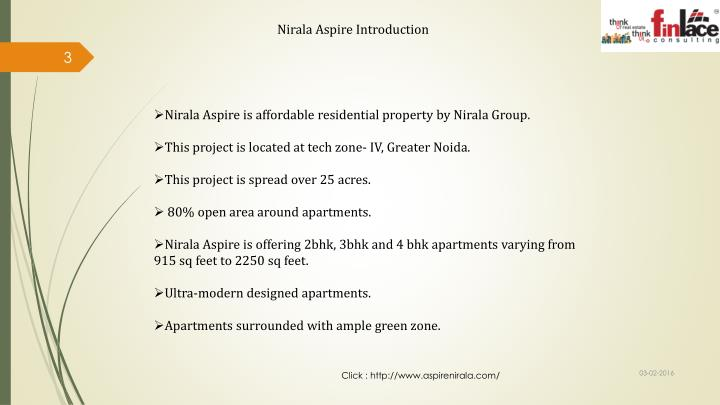 Nirala Aspire Introduction