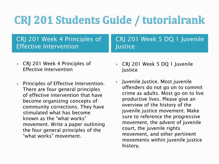 CRJ 201 Students Guide /