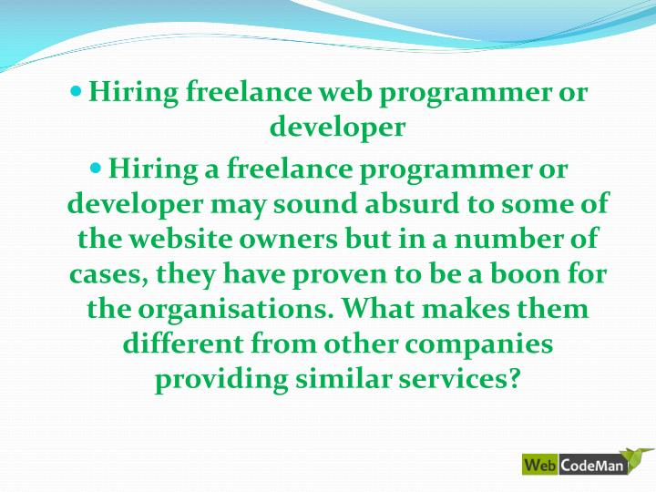 Hiring freelance web programmer or developer