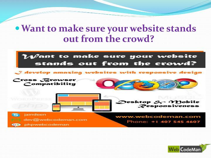 Want to make sure your website stands out from the crowd?