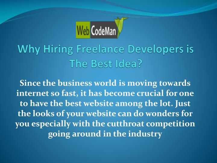 Why hiring freelance developers is the best idea