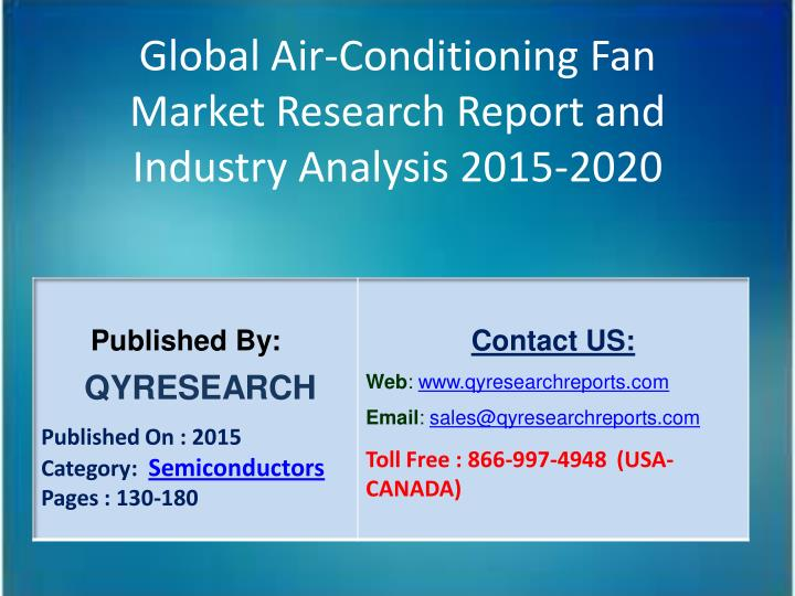 Global Air-Conditioning Fan