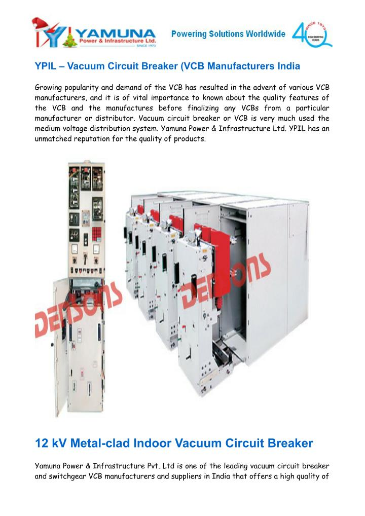 Ppt Vacuum Circuit Breaker Vcb Manufacturers India