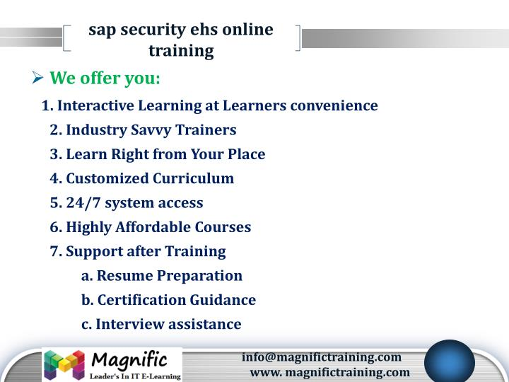 sap security ehs online training