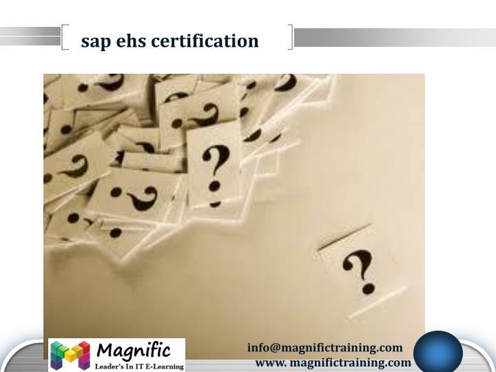 sap ehs certification